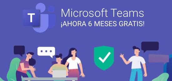 Microsoft Teams gratuito durante 6 meses