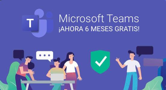 Microsoft Teams 6 meses gratis